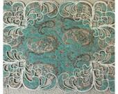 Silk Table Mat, Home Decor, Handmade Table Mat, Table Mat, Home Decoration
