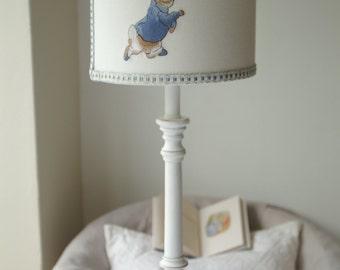 Beatrix Potter - Peter rabbit Handmade Lampshade.  20cm Drum