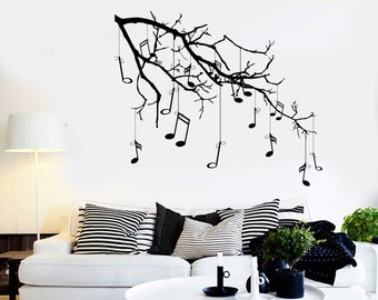 Wall Vinyl Music Notes Dancing Good Sound Guaranteed Quality Decal Mural Art 1542dz
