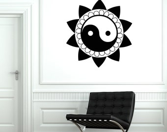 Wall Art Mural Yin Yang China Buddha Praying Buddhism Yoga Studio Decal 2067di