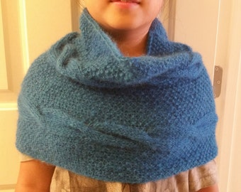 hand knitted mohair simple infinity scarf