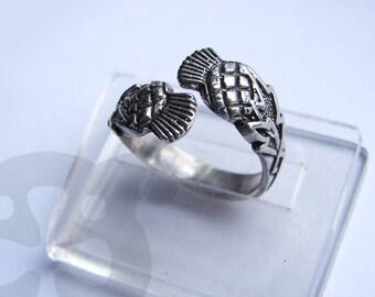 Thistle Ring - The Flower of protection.anneau de chardon. anillo de cardo. viking.Scottish