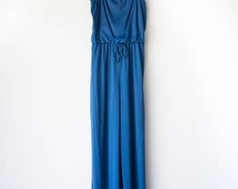 1970's Wideleg Jumpsuit / Women's Retro Jumpsuit / Vintage Women's Clothing
