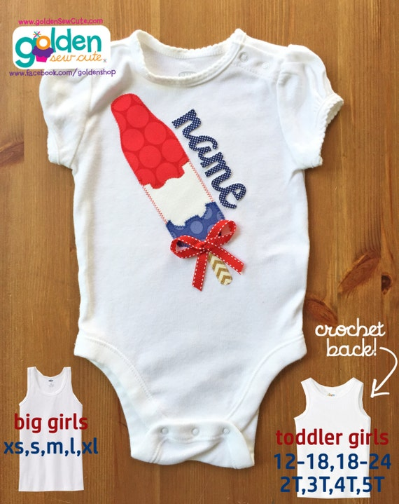 4th of July Popsicle Name Tee or Dress, America, Fourth of July, July 4, Independence Day, Shirt or Dress