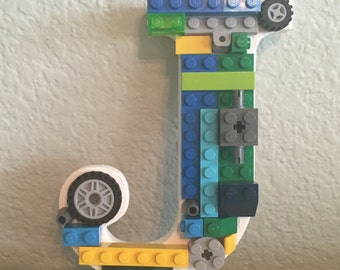 Letter J with LEGO® bricks *Free Shipping*
