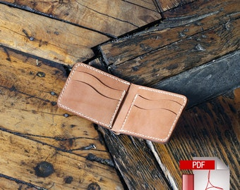 Leather Bi-Fold Wallet with Hidden Pockets Digital Template (8.5 x 11) - Build Along Tutorial