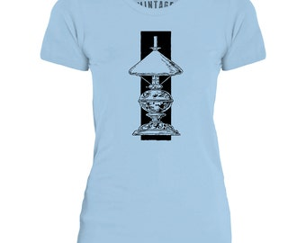 Mintage Art Deco Lamp Womens Fine Jersey T-Shirt