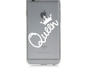 iPhone 7 Clear Case - Queen - Protective TPU cover for iPhone 7 - 7 plus - iPhone 6s -  6s plus - Samsung Galaxy s5 s6 s7 Note 7