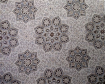 "2.3 Yards x 54"" Medallion-Dove Grey by Trend Interior Decorating Fabric"