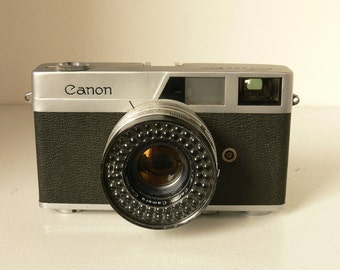 Vintage Canon Canonet Quickloading 35mm Camera With 45mm Lens 1:1.9 - 1960s