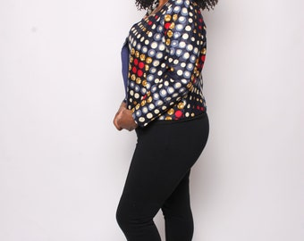 Dotted  Crop Jacket