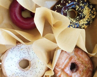 """Donuts in a Pastry Box, 8"""" x 10"""", Fine Art Photography, Wall Art Decor"""
