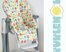 Peg Perego tatamia high chair replacement cover pad owl//red //yellow//green//blue// monsters