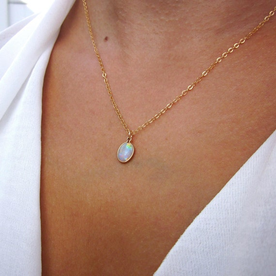 opal necklace october birthstone opal jewelry opal pendant