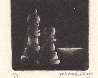 Mezzotint - Original Print
