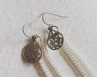 Paisley Chain Earrings
