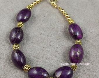 Purple Variscite Bracelet