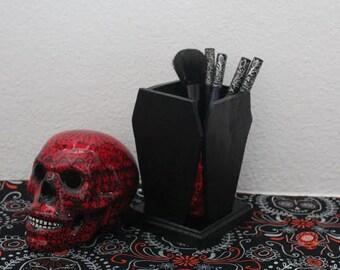 Coffin Brush Holder