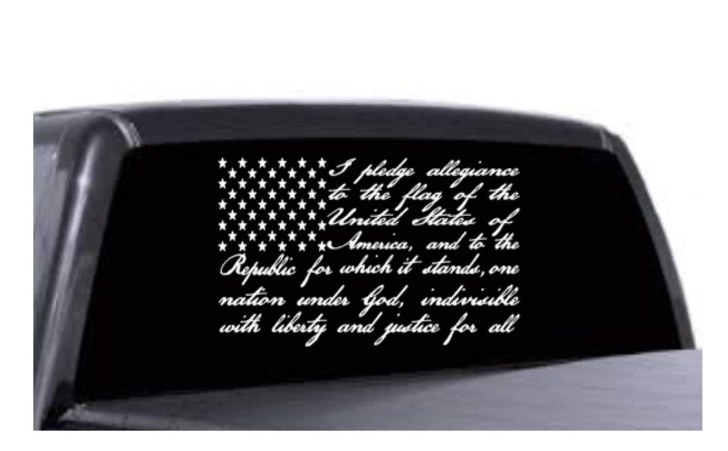 Pledge Of Allegiance American Flag Car Decal - How to make homemade decals for cars