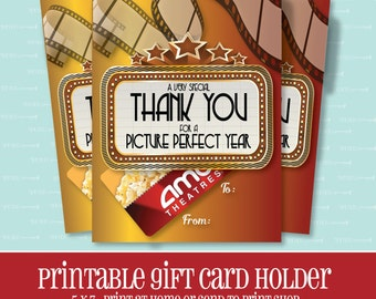INSTANT DOWNLOAD, MOVIE Gift Card Holder, Picture Perfect Year, Gift Card Holder, Teacher Appreciation Gift, Printable, Printable Gift Card