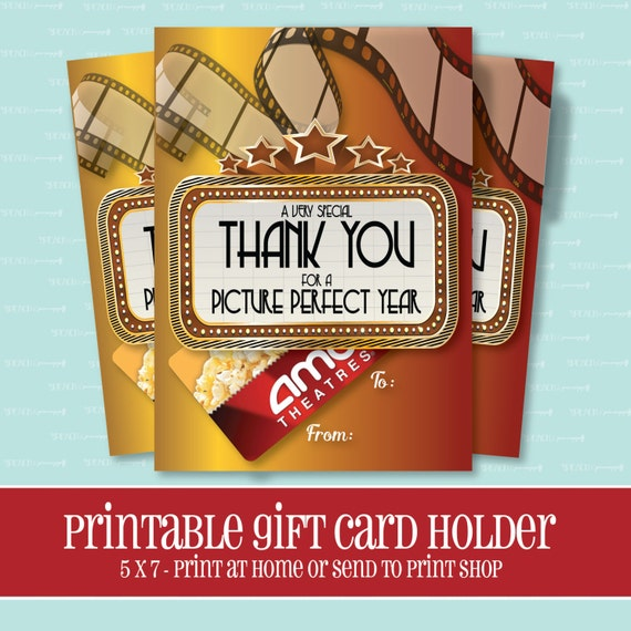INSTANT DOWNLOAD MOVIE Gift Card Holder Picture Perfect