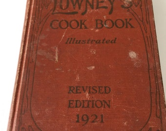 Antique cookbook.  Copyright 1921.  From the Lowney chocolate company, Boston.