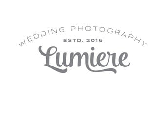 Text-only premade logo, customized logo design, watermark, logo branding / Typography
