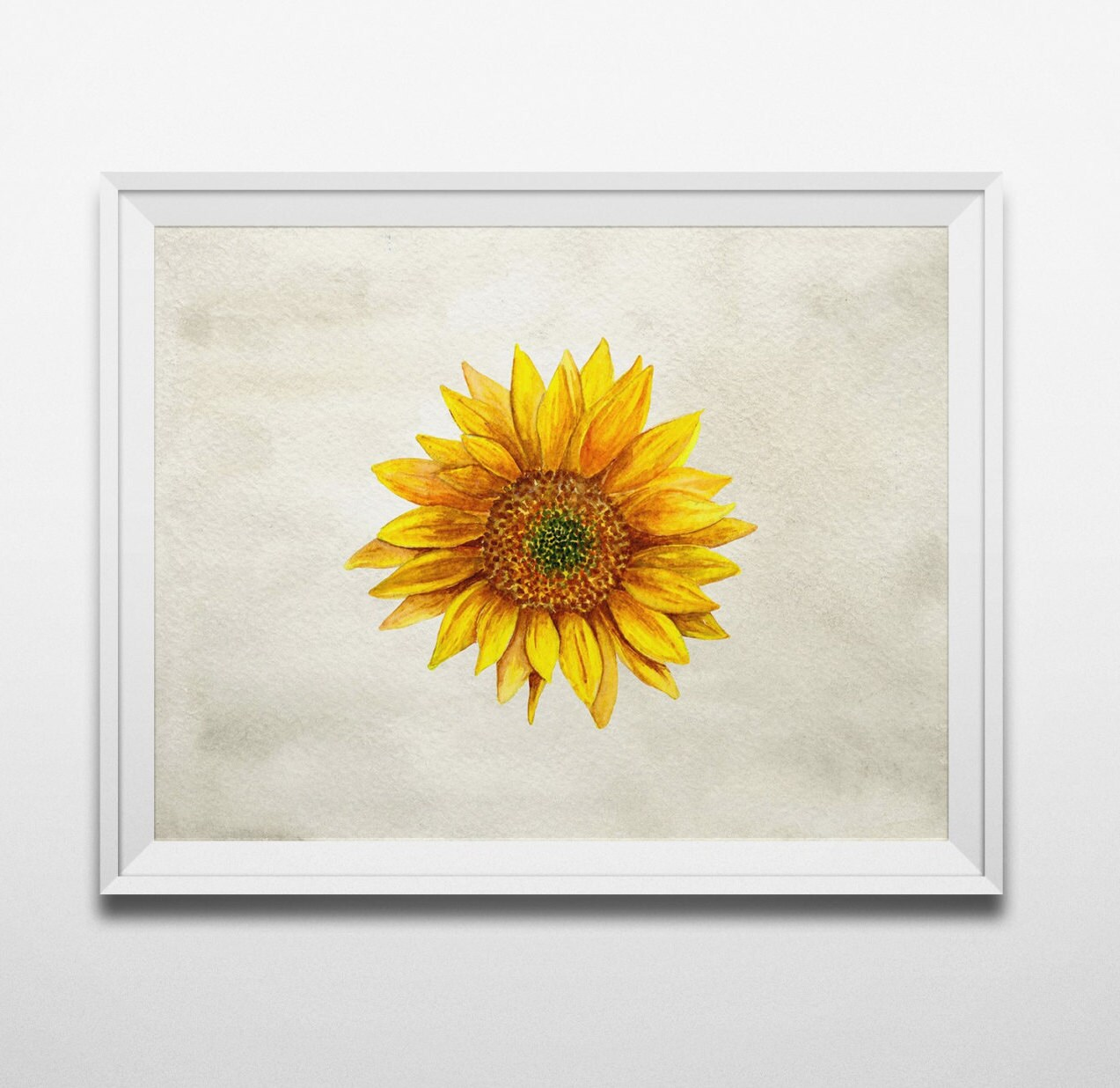Rustic wall decor sunflower art country print rustic home for Sunflower home decor
