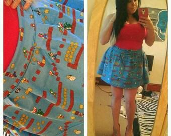 Vintage style Mario skirt