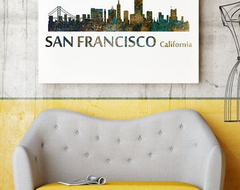 San Francisco Giclee Art Print - San Francisco Watercolor Poster - San Francisco Home Wall Decor