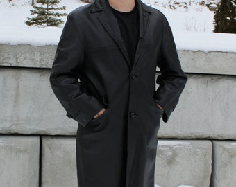 vintage leather coat for men, size Small