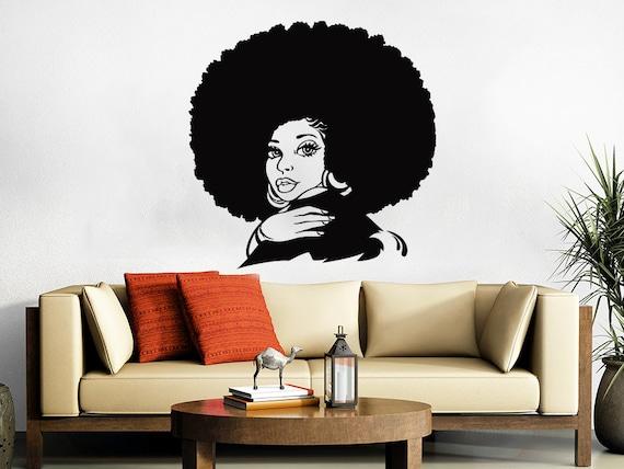 African Woman Wall Decal Tribal African Girl Vinyl Sticker