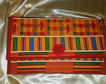 Kente Flat Envelope clutch purse