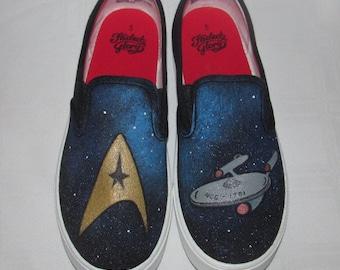 Star Trek Shoes- Hand Painted