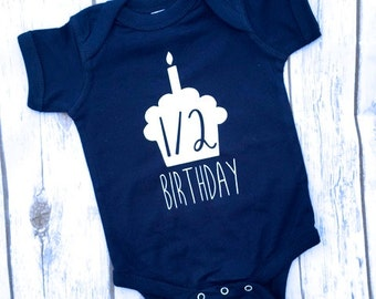 Half Birthday Boy Infant Bodysuit | 6 month Birthday  | 6 Month Infant Milestone Outfit | Half Birthday Onesie | Boy Half Birthday Outfit