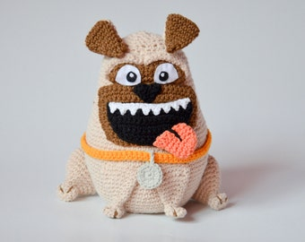 Crochet PATTERN - The PUG pattern by Krawka, dog, crochet, dopey, smile, puppy