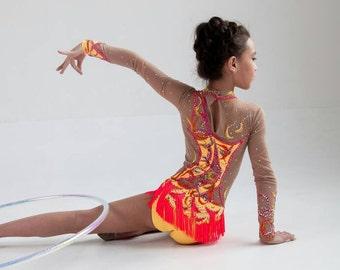 Leotard for  Rhythmic Gymnastics\Figure skating Dress\ Dance Gymnastycs Leotard