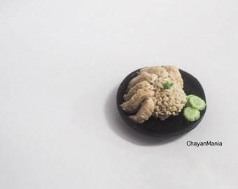 Realistic Miniature Hainanese Chicken rice