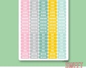 College Planner Stickers | City Girl