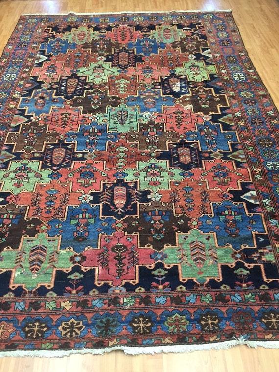 7' x 10' Antique Persian Bakhtiari Oriental Rug - 1930s - Hand Made - 100% Wool