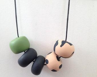 "Polymer Clay Necklace - ""Jungle Safari"""