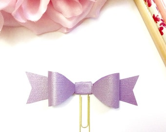 Planner Paper clips in Adorable Purple Shimmer and Gold Planner Accessories,Planner Paperclips collection