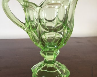 A pretty Uranium glass cream jug