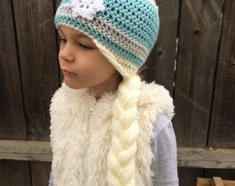 Queen Elsa hat, toddler to child sizes