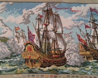 110 x 55cm Needlepoint Tapestry Wall Hanging. Free Shipping