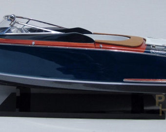 "Riva Aquariva 34"" Handmade Wooden Speedboat Model Brand New"