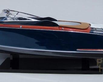 "Riva Aquariva 34"" Handmade Wooden Speedboat Model Brand New"