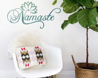 "Namaste with Lotus Flower - Yoga - Express yourself - 7"", 13"""