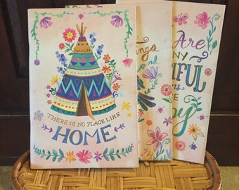 There Is No Place Like Home Gold Foil Notebook Trio