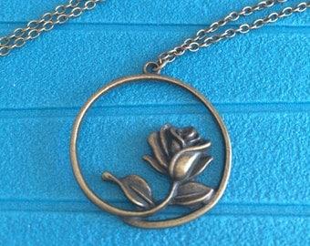 Beautiful rose necklace